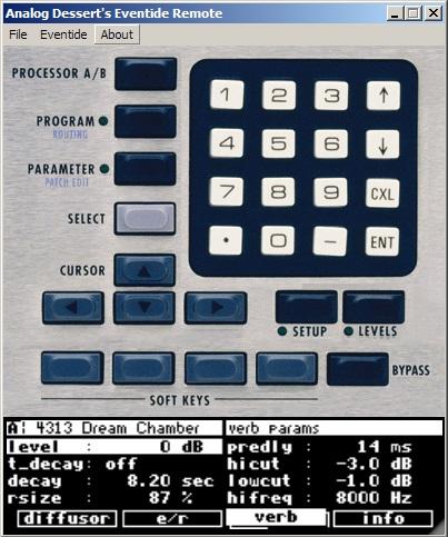 Eventide H8000 (FW) Remote
